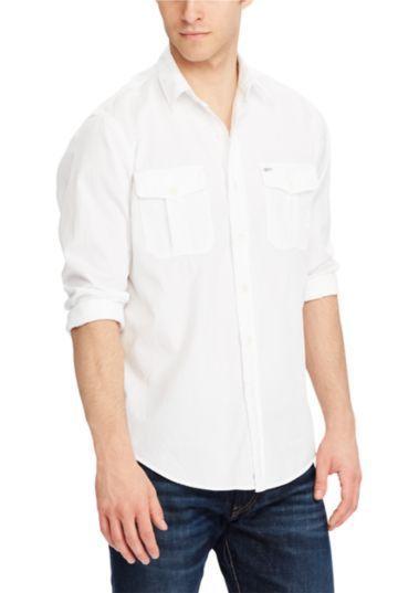 9c34c6d24 Ralph Lauren Polo Men's White Long Sleeve Beach Twill Classic Fit Size XL # RalphLauren #ButtonFront