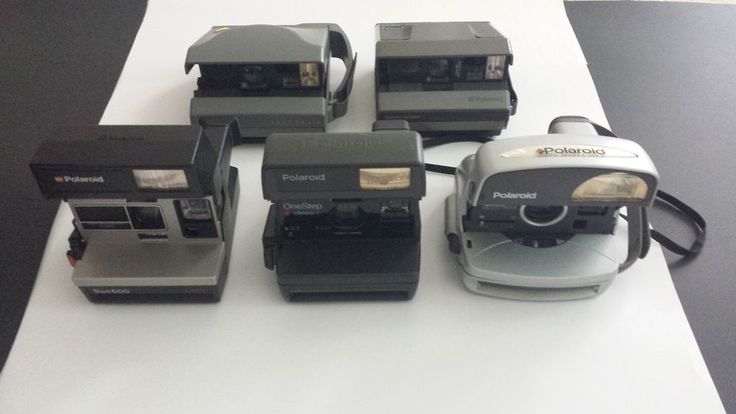 Lot of (5) Polaroid Instant Cameras Sun 600 LMS-Spectra 2, *for parts/repairs* #Polaroid