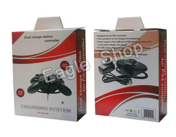 Для PS4 контроллер двойная зарядка для док-станции подставка для PS4 игровой контроллер зарядное устройство черный