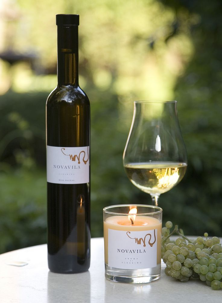 """Aroma de Albariño"" A candle that smells like one of Spain's top white wines: albariño!"