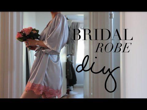 DIY Bridal Robe - YouTube