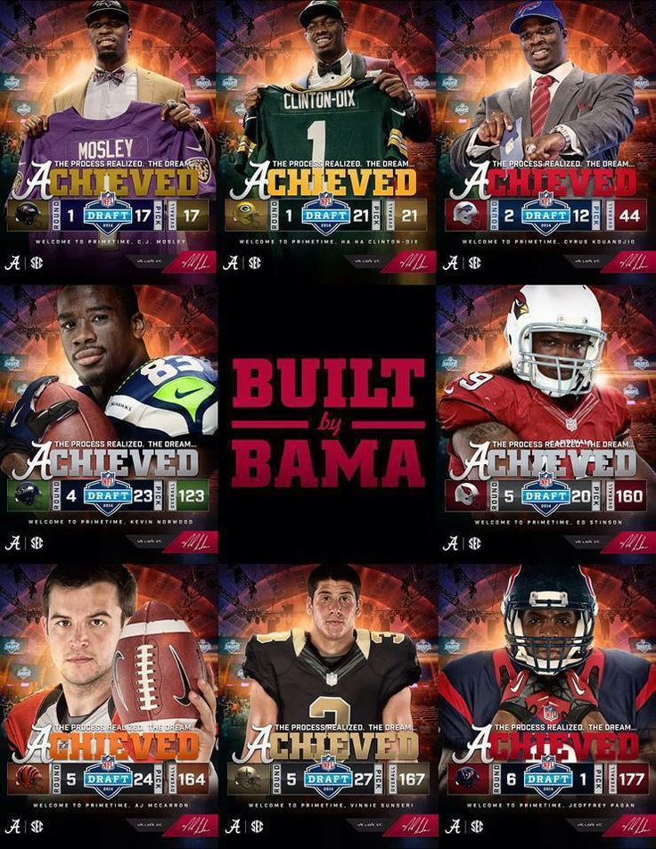 The entire group drafted in 2014 NFL Draft from the University of Alabama