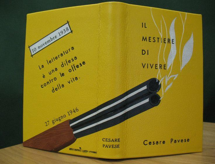 Legatura artistica del libro di Cesare Pavese eseguito dall'Antica Legatoria Viali