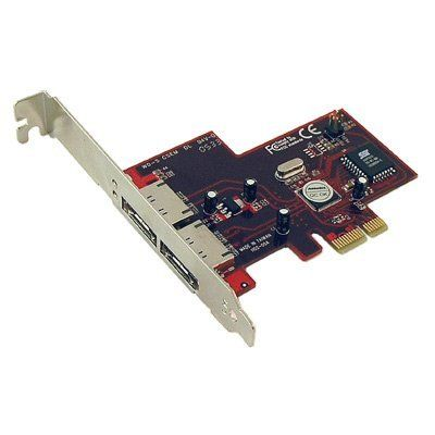 ADDONICS 2-port esata ii raid jbod pci express controller by Addonics. $31.39. Technical Information: 48 bits LBA, support HDD partition larger than 137GB Supports 1-lane 2.5Gbps PCI Express Hot-plug capability SATA II transfer rate of 3.0Gbps Fully compliant with Serial ATA 1.0 specifications Supports two independent Serial ATA channels Independent Link, Transport, and data FIFO Independent command fetch, scatter/gather, and command execution Supports Legacy Command Que...