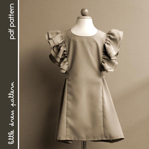 Anya Dress  PDF Pattern  Size 12 months to 8 by littledresspattern, $6.00