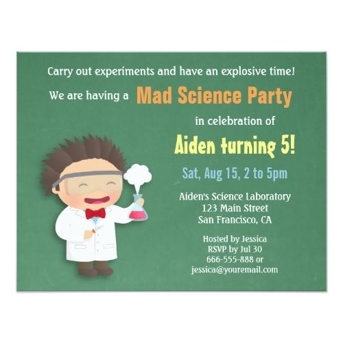 124 best Science Birthday Party Invitations images on Pinterest