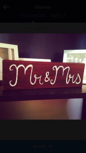 Mr & Mrs Sign (wedding, Engagement)