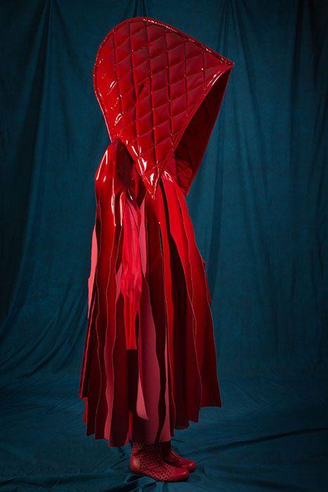 Comme des Garçons (Rei Kawakubo) Hooded ensemble, spring 2015, 2015.8.1