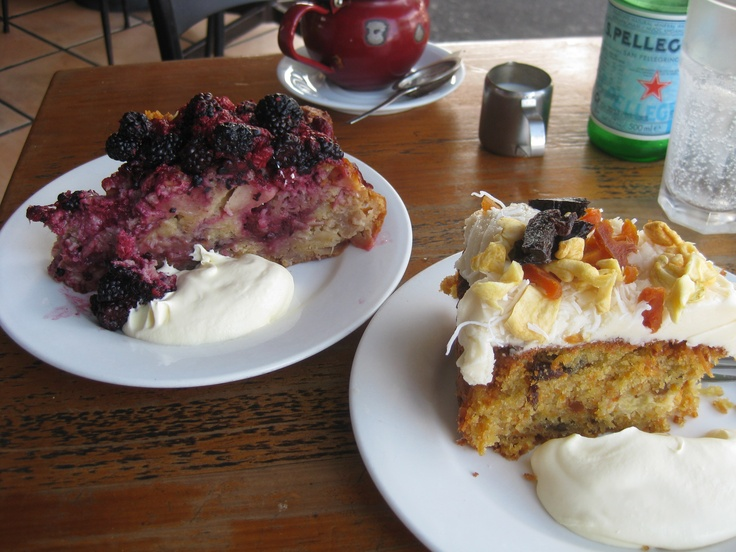 Twisted Sister Cafe Byron Bay....where a slice of cake is embarrassingly big - Jan 2012