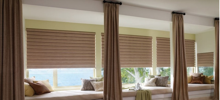 Vignette Traditional Modern Roman Shades With Ultra Glide