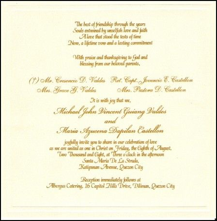Wedding Phrases for Invitation Cards