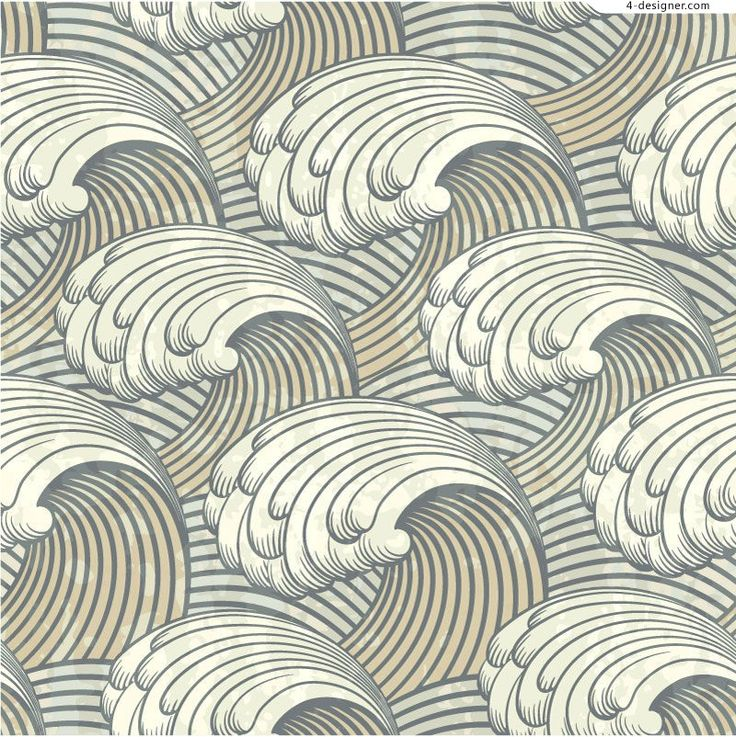 Repeating rolling wave pattern