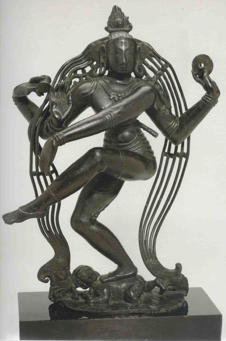 Shiva Nataraja, 9th century. 45,5 cm Note the feature of hair and chakra in one hand.