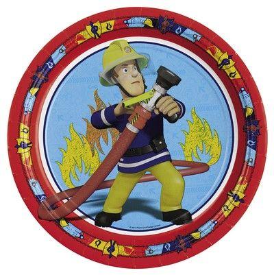 Piatti Grandi Sam il Pompiere - Kit Festa