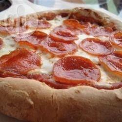 Pizza con masa de polenta