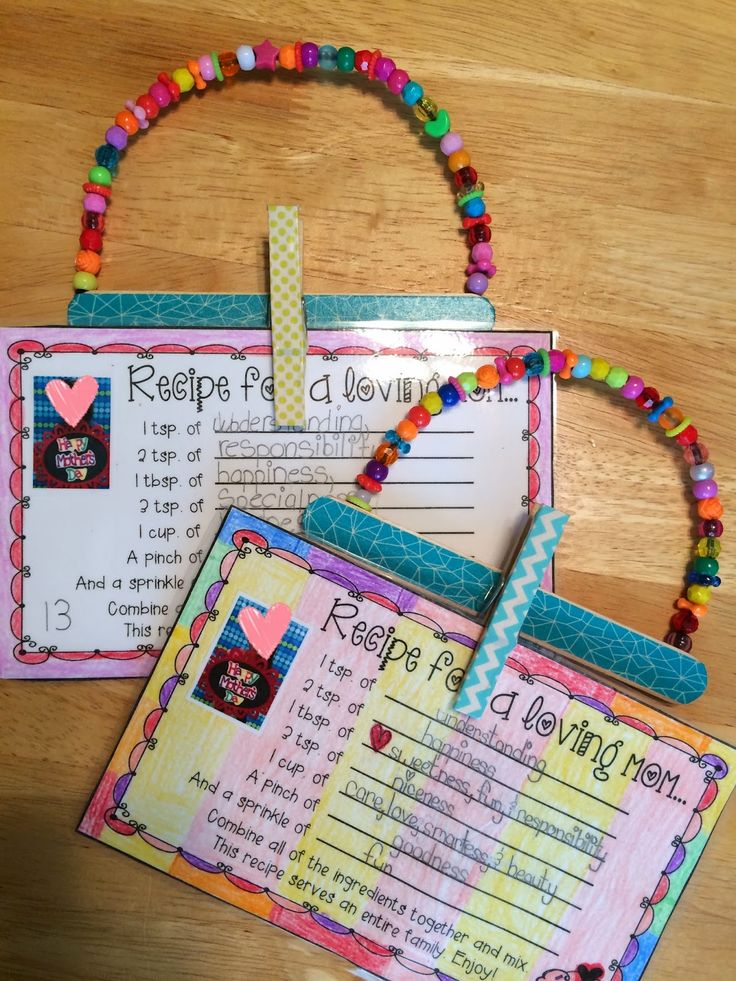 "Mother's Day activities: FREE ""Recipe for a loving mom"" craftivity."