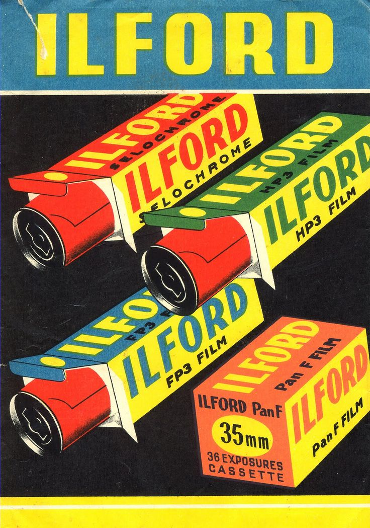 Ilford ad - makes me nostalgic for High School photo class.