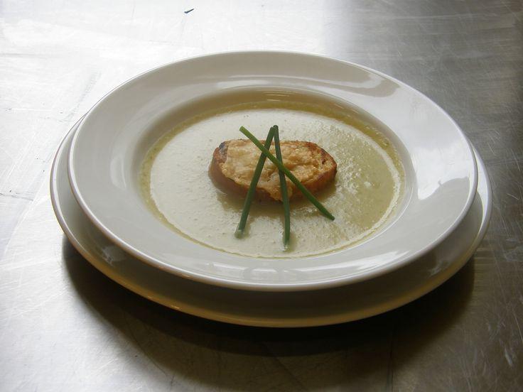 Leek & Potato Soup www.essentialcaterer.com.au