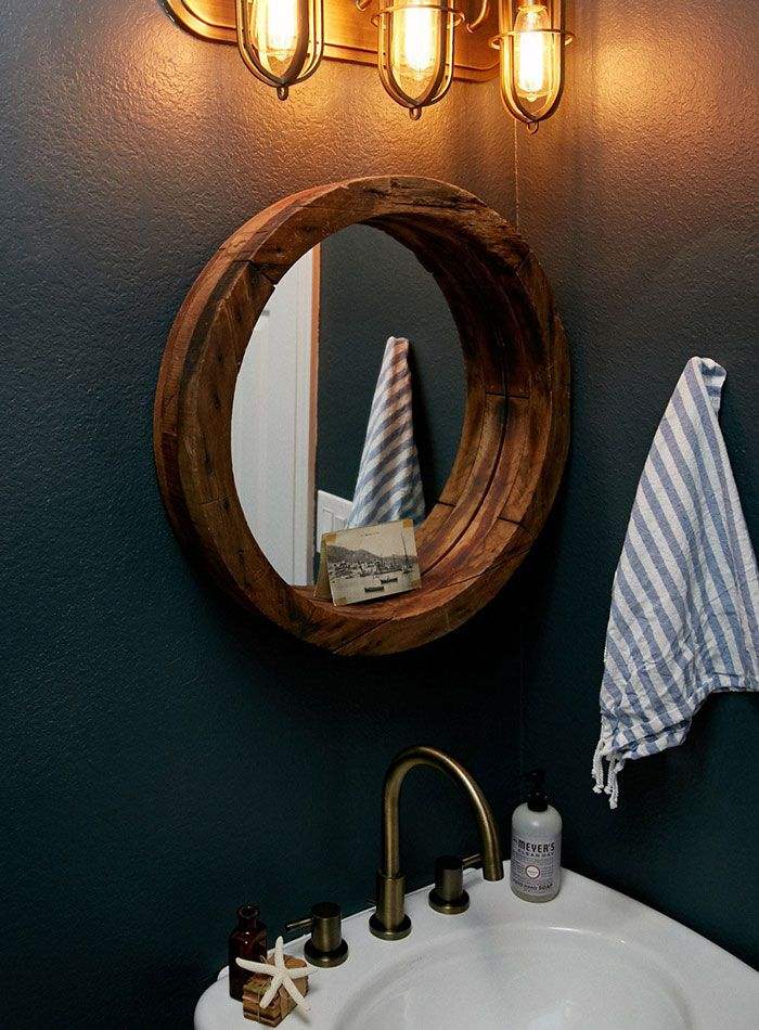 new construction with curated charm in texas designsponge - Bathroom Mirrors Fort Worth Tx