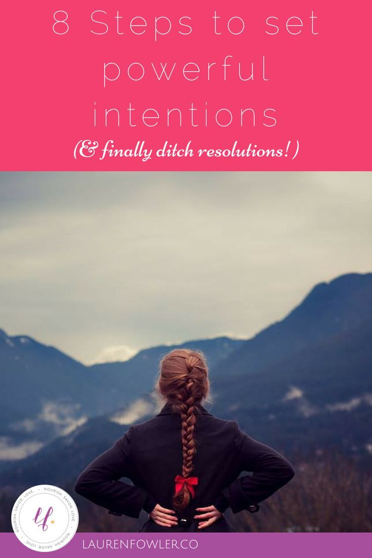 how to set your intentions