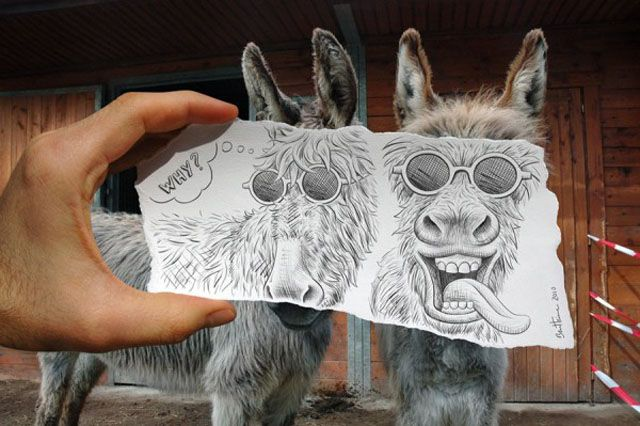 """Ben Heine (born June 12, 1983 in Abidjan, Ivory coast) is a Belgian multidisciplinary visual artist. He is best known for his original series """"Pencil Vs Camera"""", """"Digital Circlism"""" and """"Flesh and Acrylic""""."""