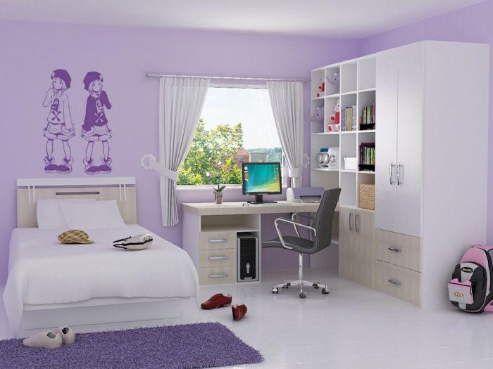 1001 Ideas De Decoración De Habitaciones De Niñas Dormitorios Colores Para Habitaciones Juveniles Decoraciones De Cuartos
