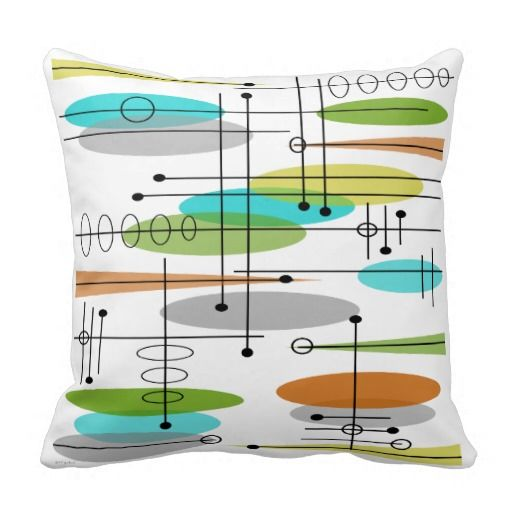 Mid Century Style Pillows : Eames Inspired Pillow Design Mid Century #7 Mid century, Cushions and Pillow design