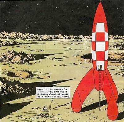 Tin Tin moon rocket