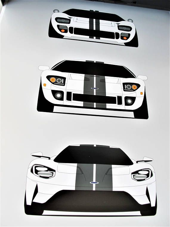 Ford Gt Generations Ford Gt Ford Poster Ford Print
