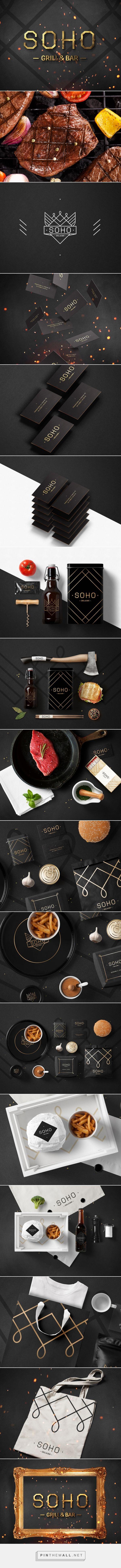 Фирменный стиль для гриль-бара Сохо on Behance | Fivestar Branding – Design and Branding Agency & Inspiration Gallery