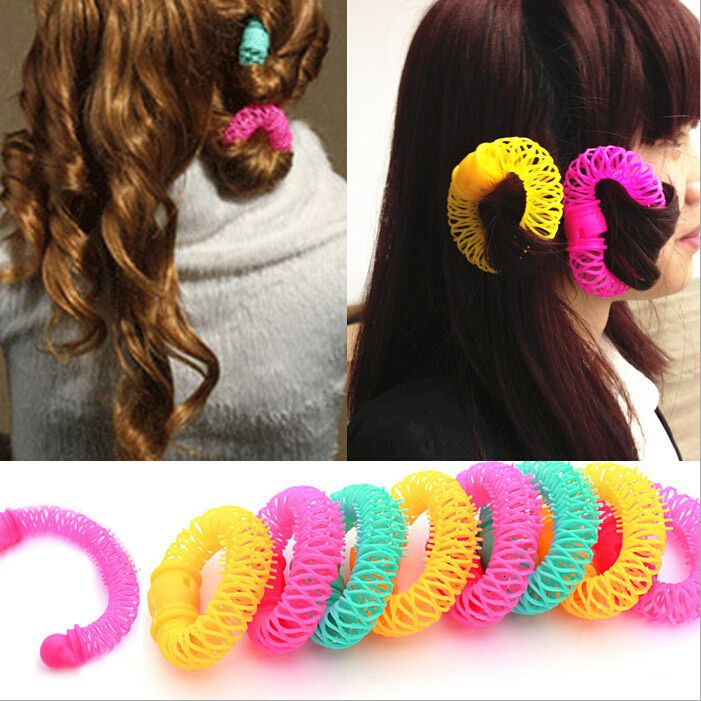 8 pcs/lot  Automatic Hair Curler Hair Roller Magic Bendy DIY Hair Styling Tools Spiral Curling Hair Care GZJ02259