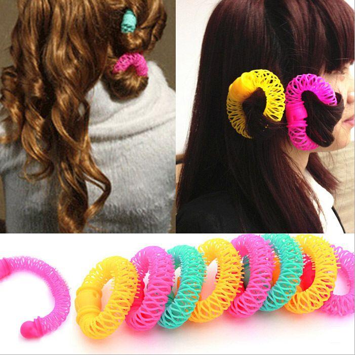 8 pcs/lot Automatique Cheveux Bigoudi Cheveux Rouleau Magique Bendy DIY De Cheveux Outils Spirale Curling Cheveux Soins GZJ02259
