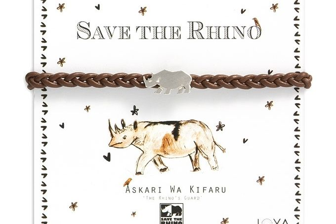 Save the Rhino charity bracelet by Joya on hellopretty.co.za