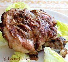 Pulpe de miel la cuptor - o friptura simplu si usor de facut, gustoasa si aromata, potrivita pentru masa de Pasti si nu numai :)