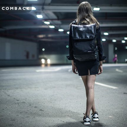 Бренд COMBACK прилив строчки чисто черный низкий профиль сумка женская-кожа-простой рюкзак дорожная сумка мешок человек