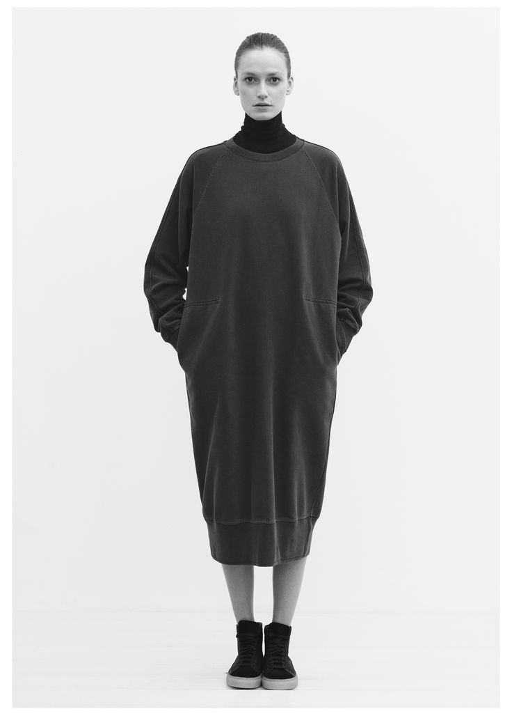 Oversized Sweatshirt Dress Minimal Fashion Minimalist