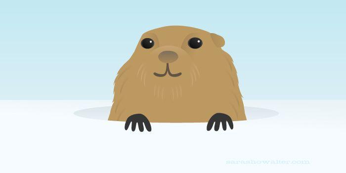 perky lil' groundhog