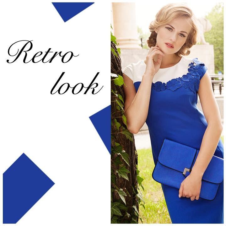 Postaw na mocny kolor tego lata - elegancka, efektowna sukienka wykonana z łączonych tkanin w kolorze chabru i ecru <3 http://bit.ly/SemperSukienkaChabrowa
