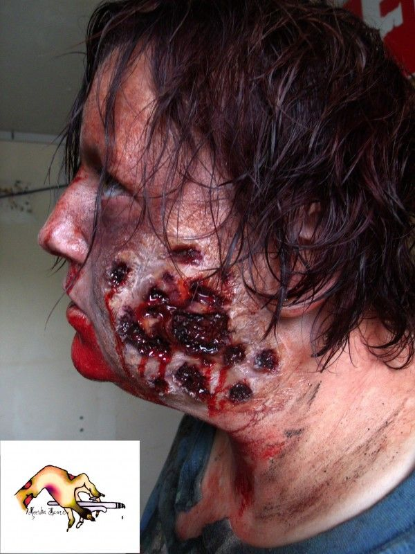 Zombie tear Halloween Costume Prosthetic for sale by The Prosthetic / Mask Maker at http://MoreThanHorror.com