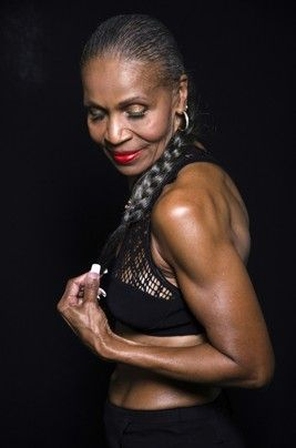 Earnestine Shepherd, 74 yr old body builder.  Didn't start working out until she was 54.
