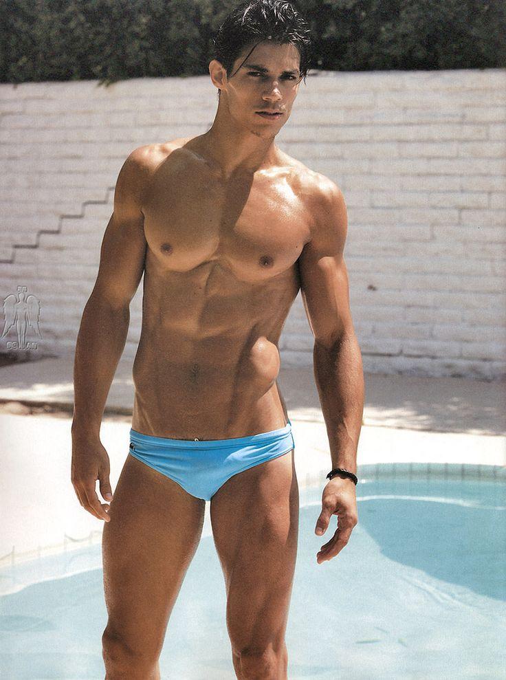 Gay blue speedo