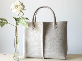 Elegant and Casual Felt Bag from Italy, Tote Bag, Market Bag, Felt Tote, Everyday Tote, Handmade bag.