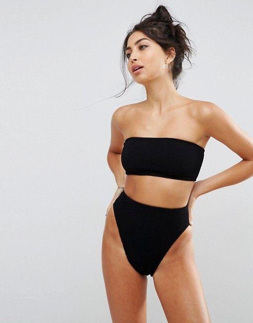 941ceead71463 ASOS | ASOS Mix and Match Crinkle High Leg High Waist Bikini Bottom