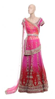 Like this style and draping for reception lengha