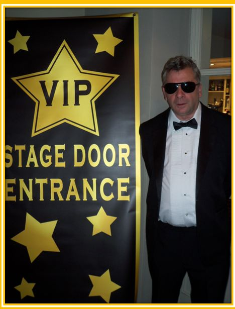 Hollywood themed party entertainment - Hollywood Photos - or use a prop like this, with cut-outs of tux or designer gown