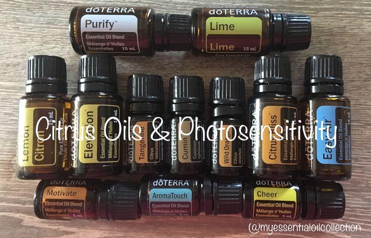 Citrus Oils & Photosensitivity