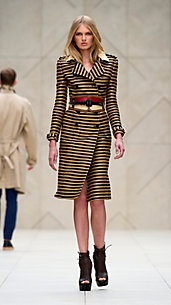 Double breasted striped jacket dress. Love.