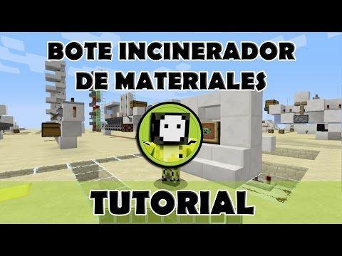 Tutorial Minecraft | Bote incinerador de basura todas las versiones