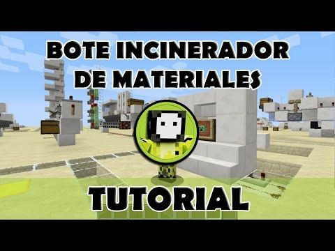 Tutorial Minecraft | Bote incinerador de basura todas las versiones