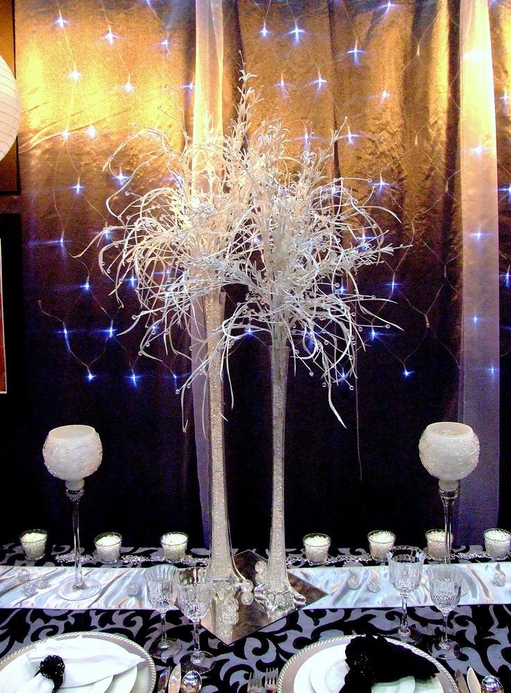 Black and White wedding reception ideas chic stylish